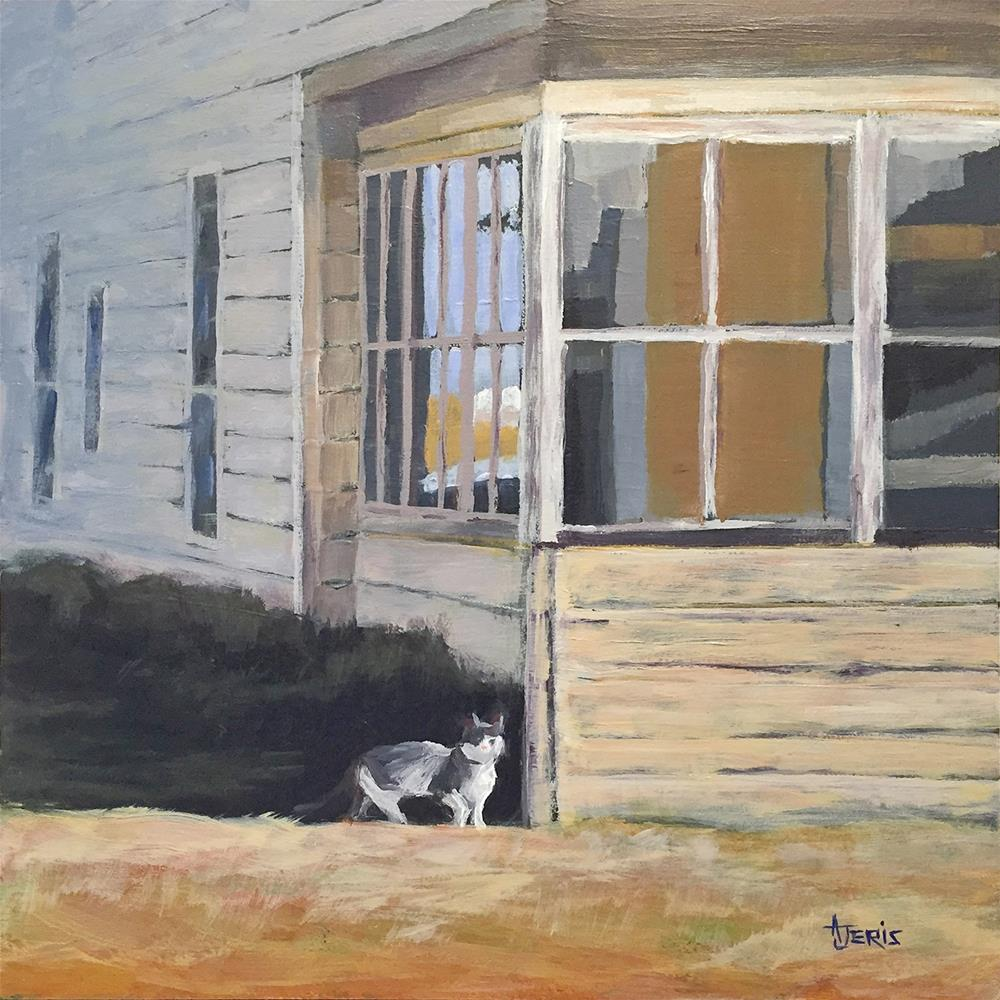 """""""Cat at the Old House"""" original fine art by Andrea Jeris"""