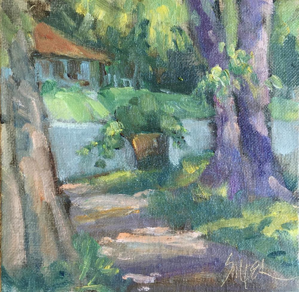 """""""End of the Driveway"""" original fine art by Connie Snipes"""