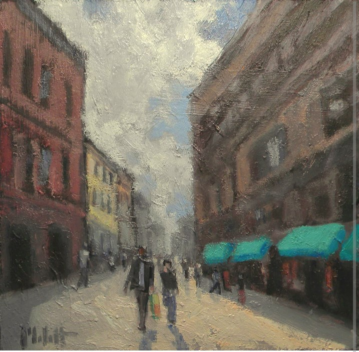 """Urban Landscape Downtown Art Contemporary Impressionism"" original fine art by Heidi Malott"