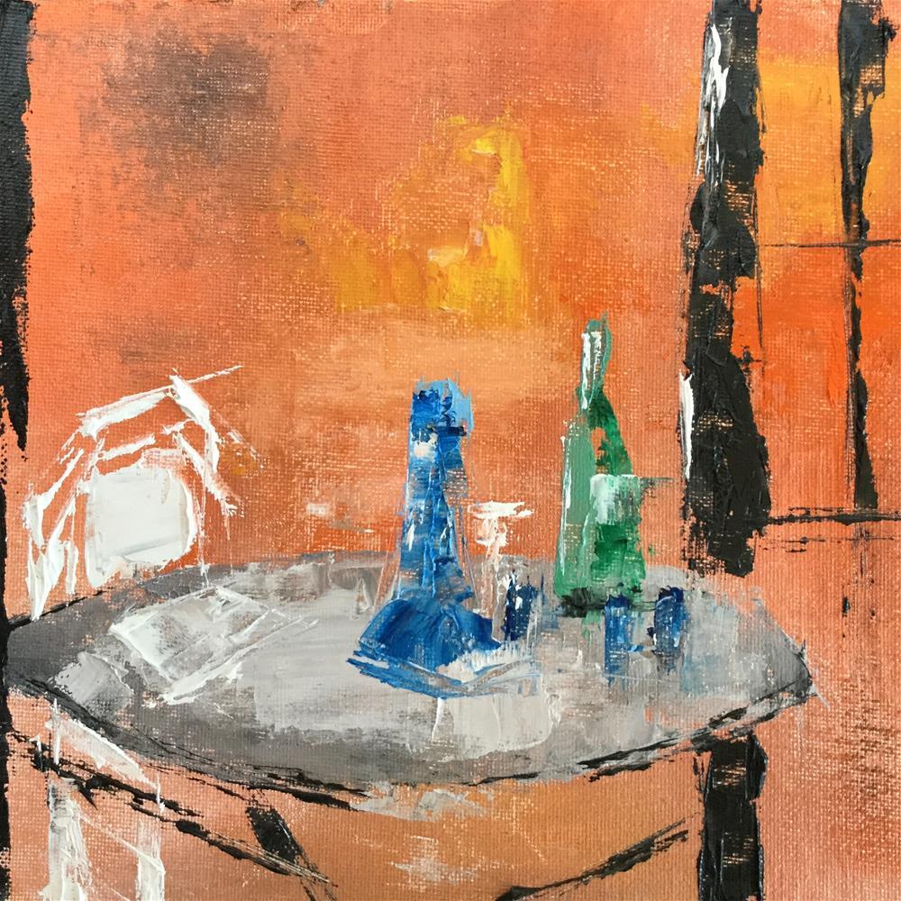 """Drinking alone"" original fine art by pamela kish"