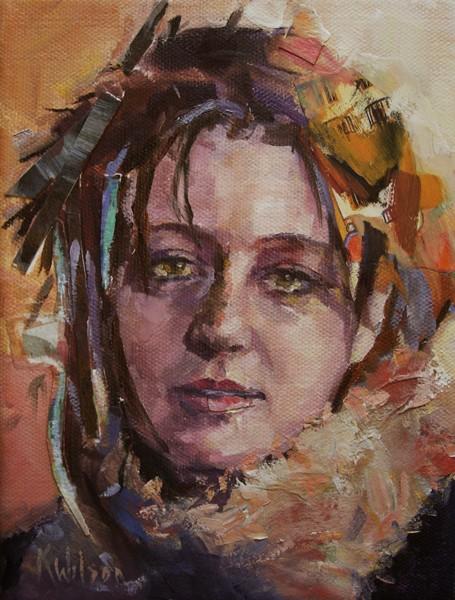 """""""Stick Hair"""" original fine art by Katie Wilson"""