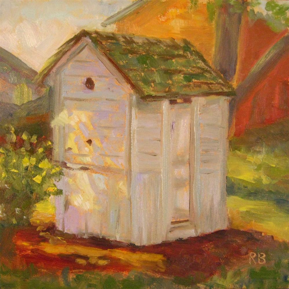 """""""The Outhouse"""" original fine art by Robie Benve"""