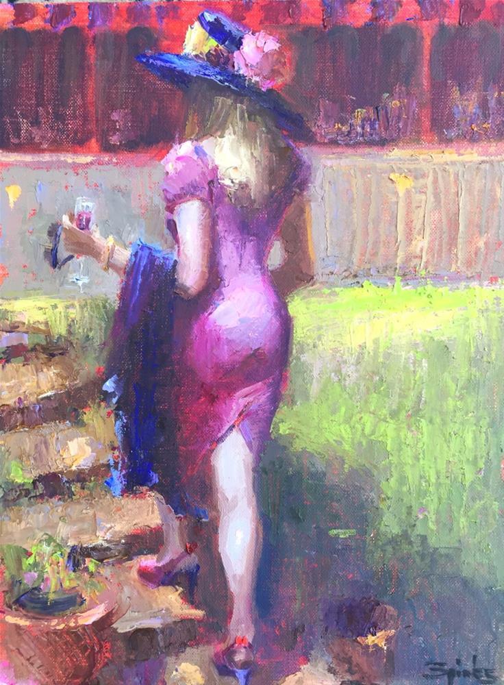 """Provence De Rose"" original fine art by Johanna Spinks"