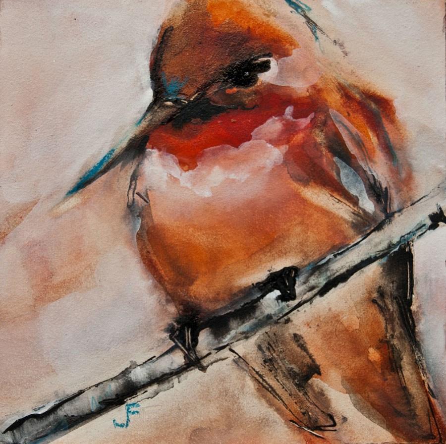 """Allen's Hummingbird"" original fine art by Jani Freimann"