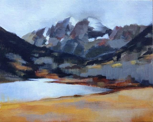 """The Maroon Bells - Colorado"" original fine art by Anne Ducrot"