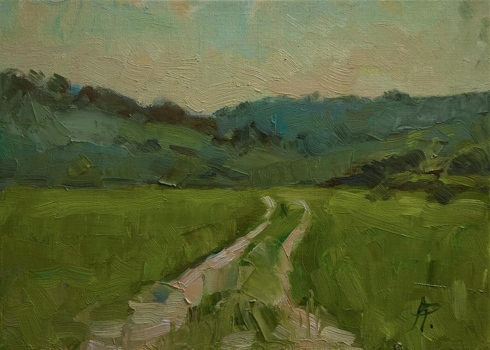 """""""The Downs from the Long Furlong"""" original fine art by Andre Pallat"""