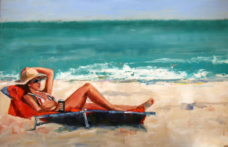 """breezy"" original fine art by Carol Carmichael"