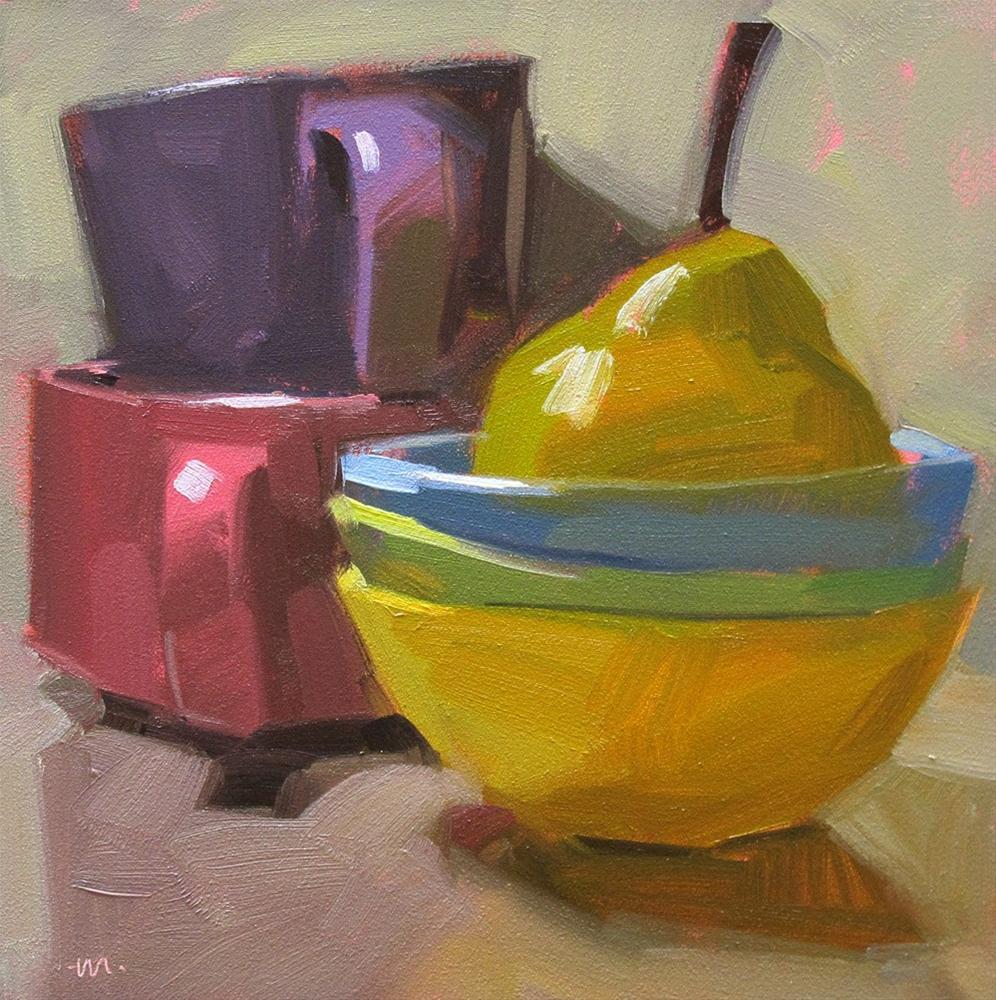 """""""Pear Bath"""" original fine art by Carol Marine"""