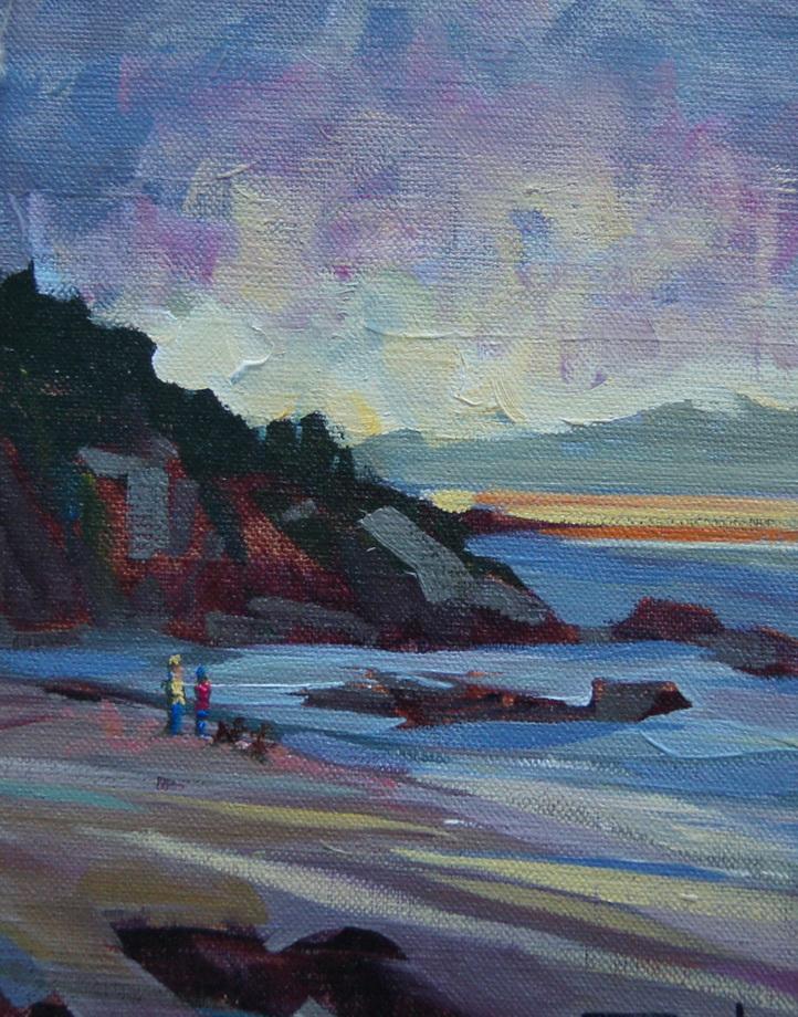 """""""Beach Walk"""" original fine art by Brian Buckrell"""