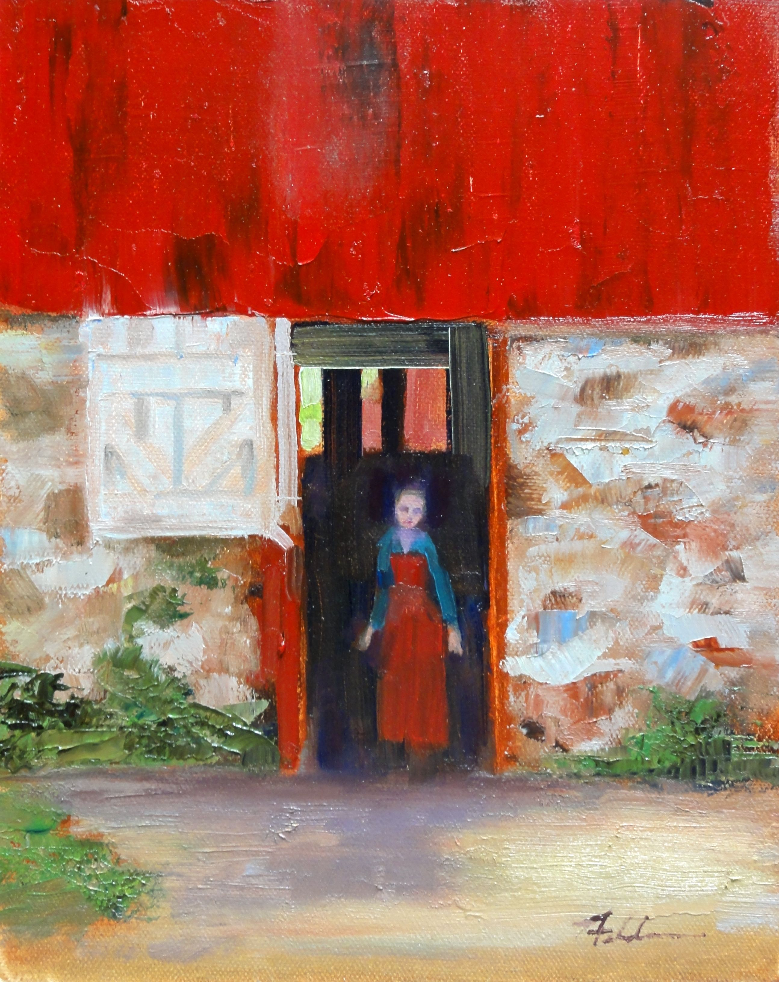 """The Open Door"" original fine art by Ann Feldman"