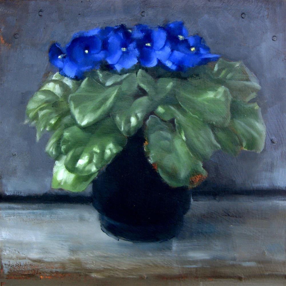 """Moonlit African Violets (no.98)"" original fine art by Michael William"