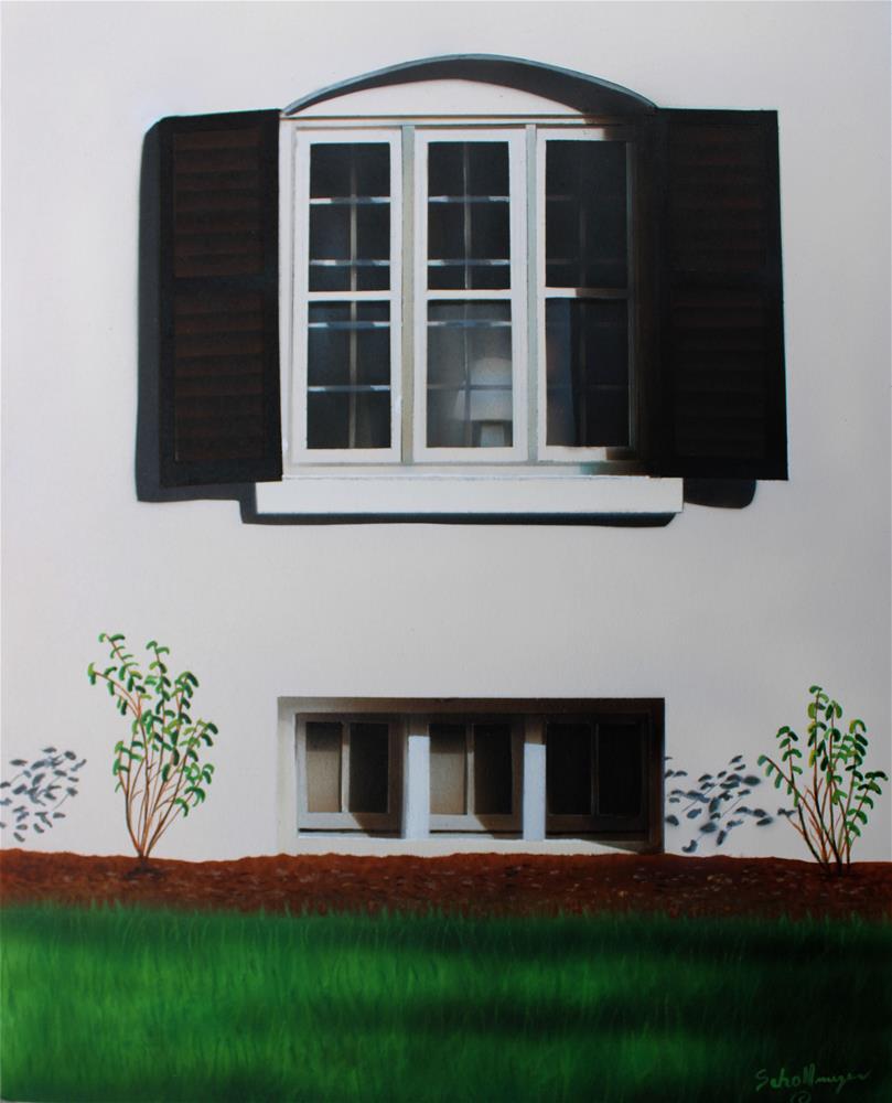 """""""Window on Locust Street"""" original fine art by Fred Schollmeyer"""
