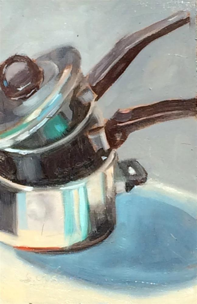 """W - is for Wonderful Pots and Pans"" original fine art by Suzanne Gysin"