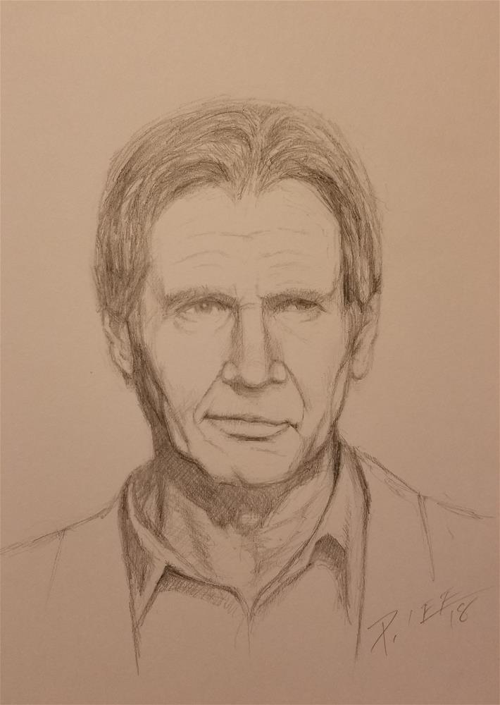 """Harrison"" original fine art by Peter Lee"