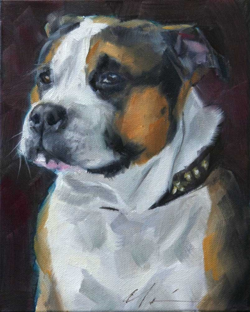 """The Daily Dog - Eight"" original fine art by Clair Hartmann"