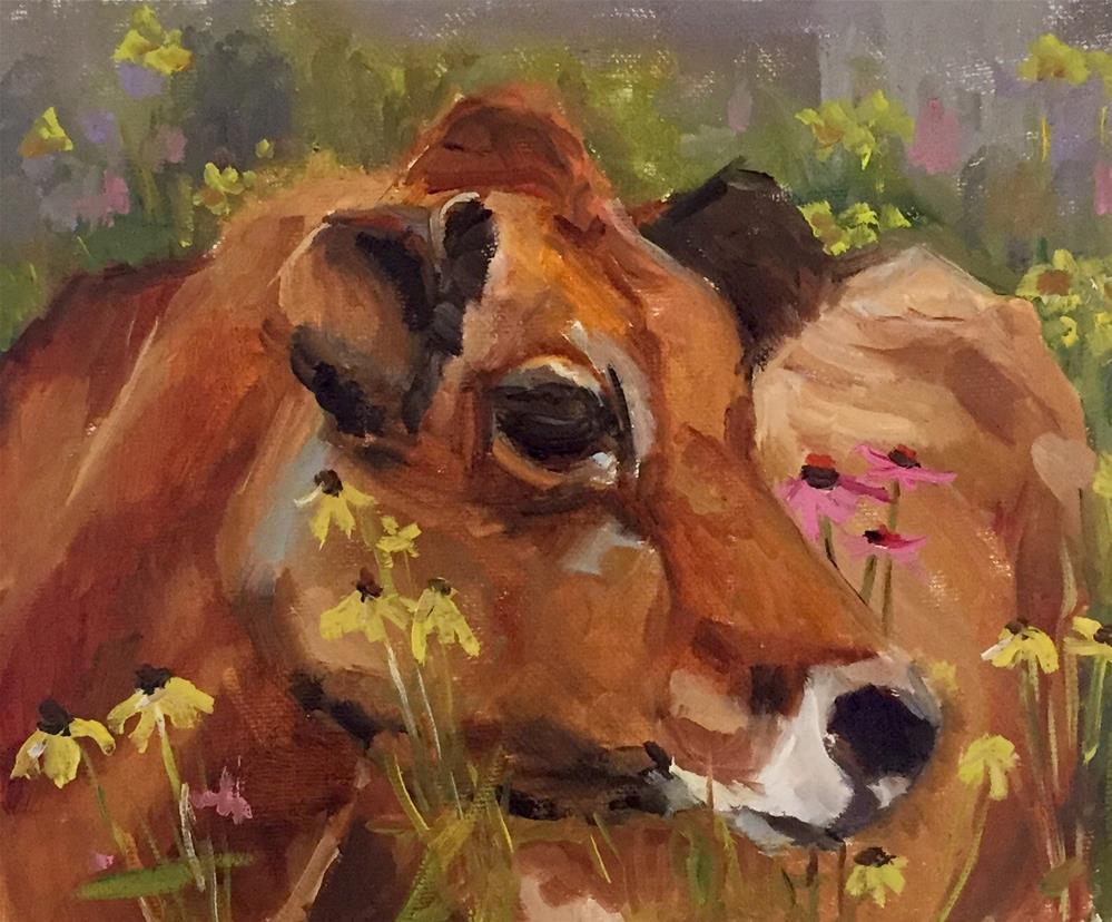 """Flower Girl"" original fine art by Marcia Hodges"