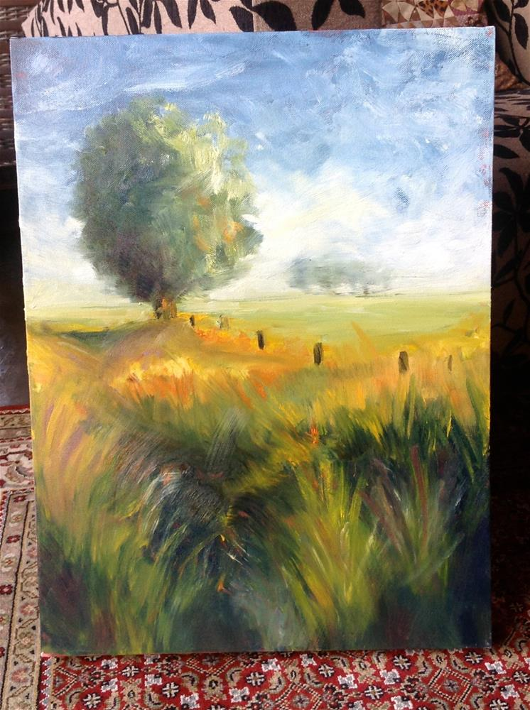 """Country side"" original fine art by Ronel Alberts"