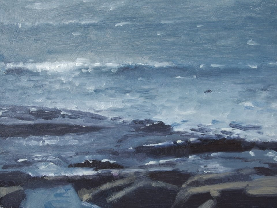 """Lake Superior Waves"" original fine art by Weston Hobdy"