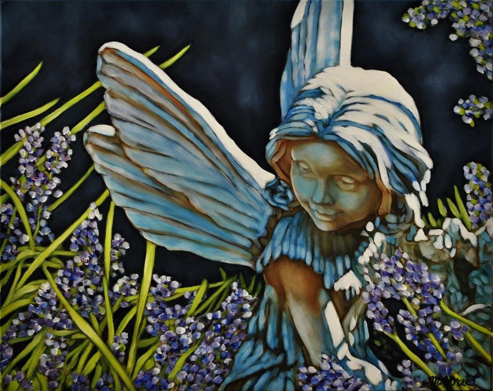"""Garden Faerie"" original fine art by Margaret Horvat"