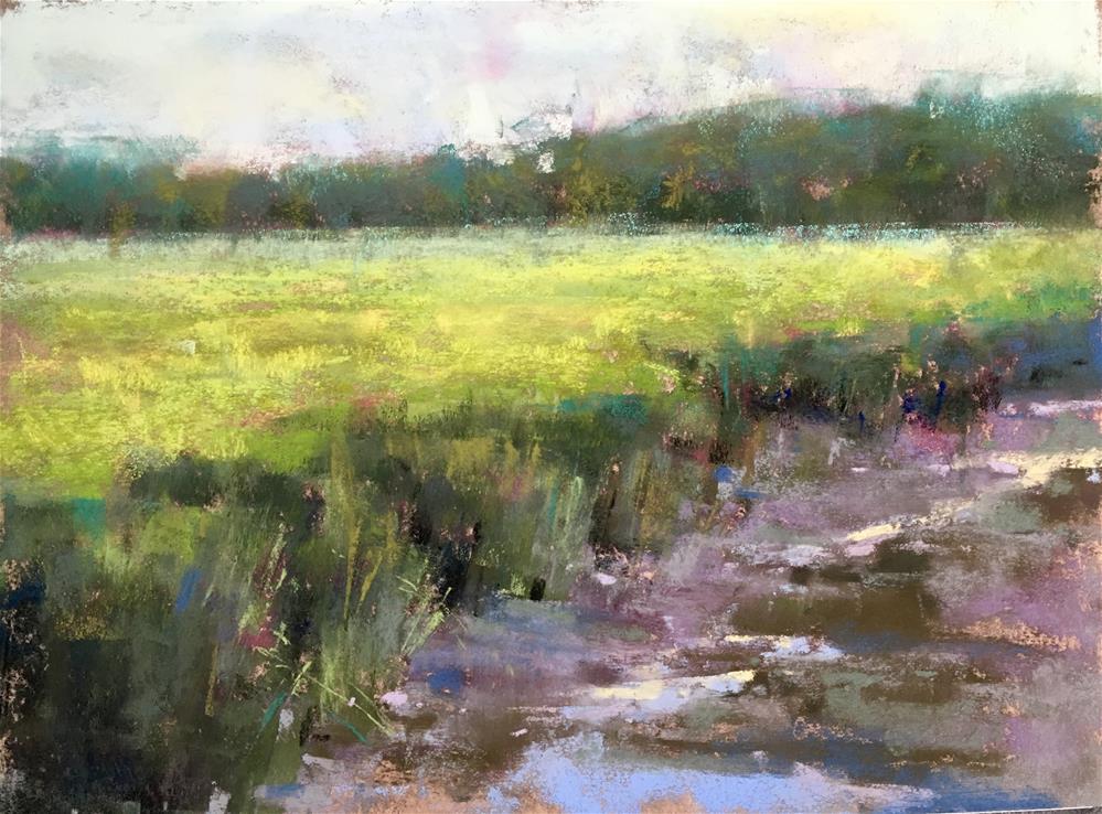 """Scarborough Marsh Shadows"" original fine art by Jacob Aguiar"