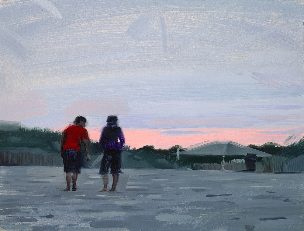 """""""Good Day at the Beach"""" original fine art by Rob  Rey"""