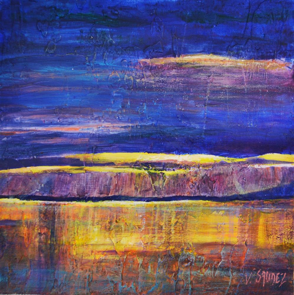 """""""The lake Léman"""" original fine art by Véronique Saudez"""