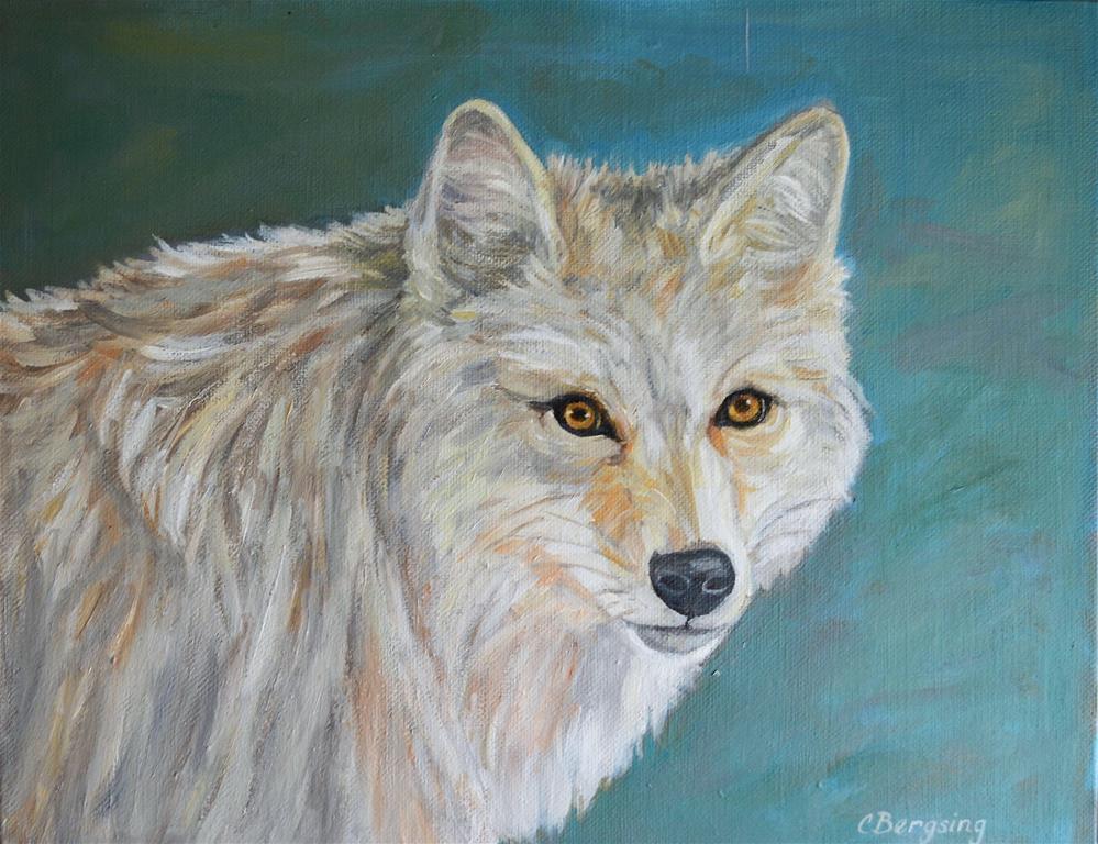 """Yellowstone Coyote"" original fine art by Cathy Bergsing"
