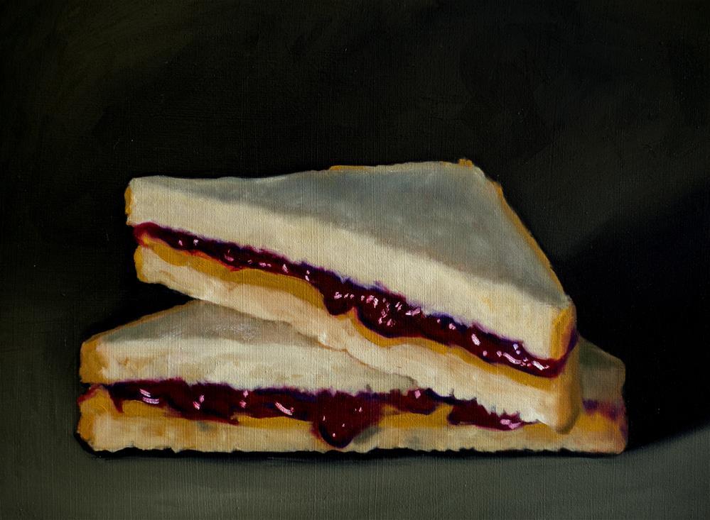 """Peanut Butter and Jelly"" original fine art by Lauren Pretorius"