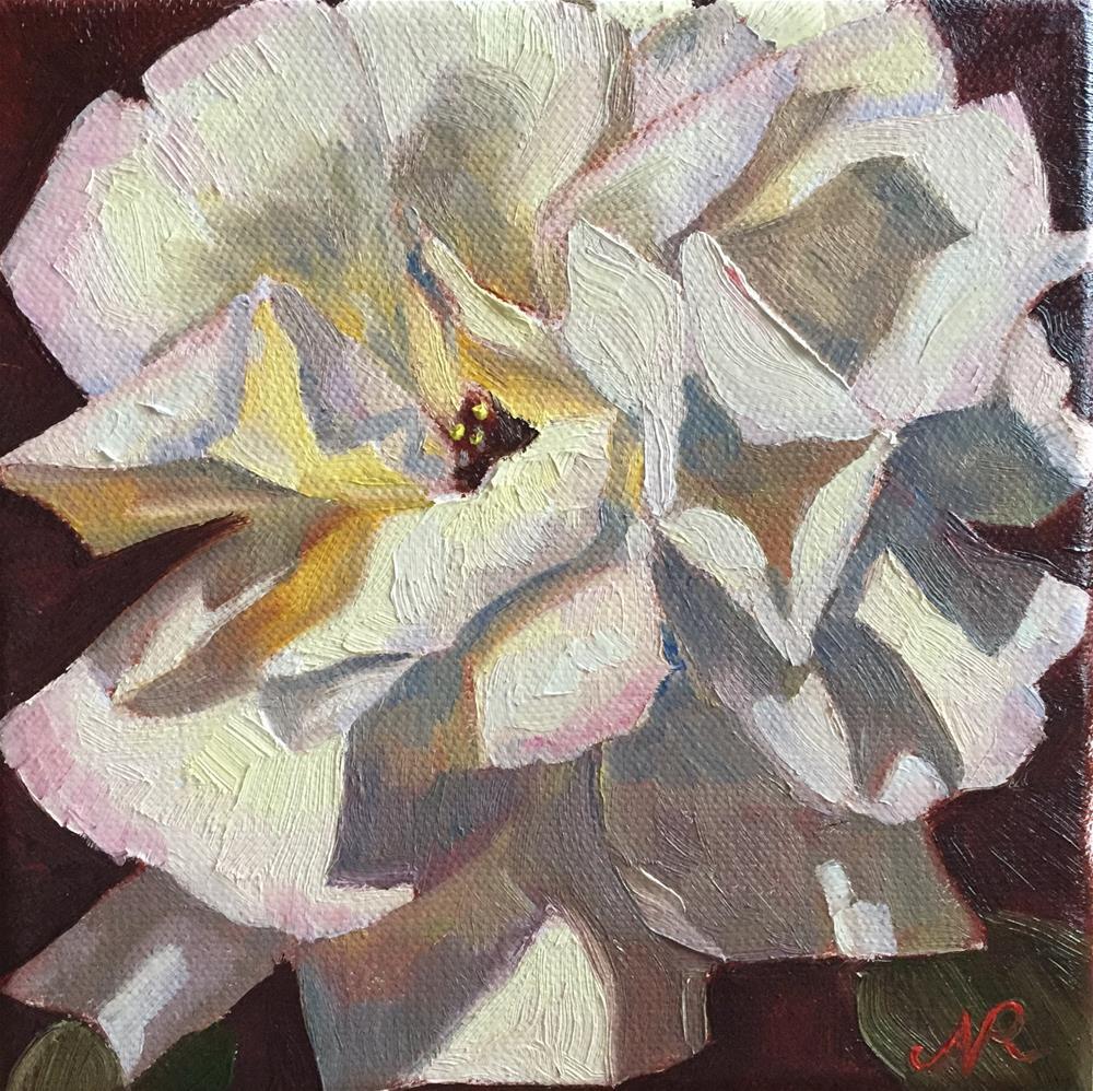 """Another rose"" original fine art by Natasha Ramras"