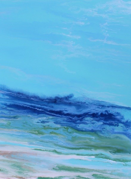 """Contemporary Abstract Seascape Painting Tropical Wave II by International Contemporary Landscape A"" original fine art by Kimberly Conrad"