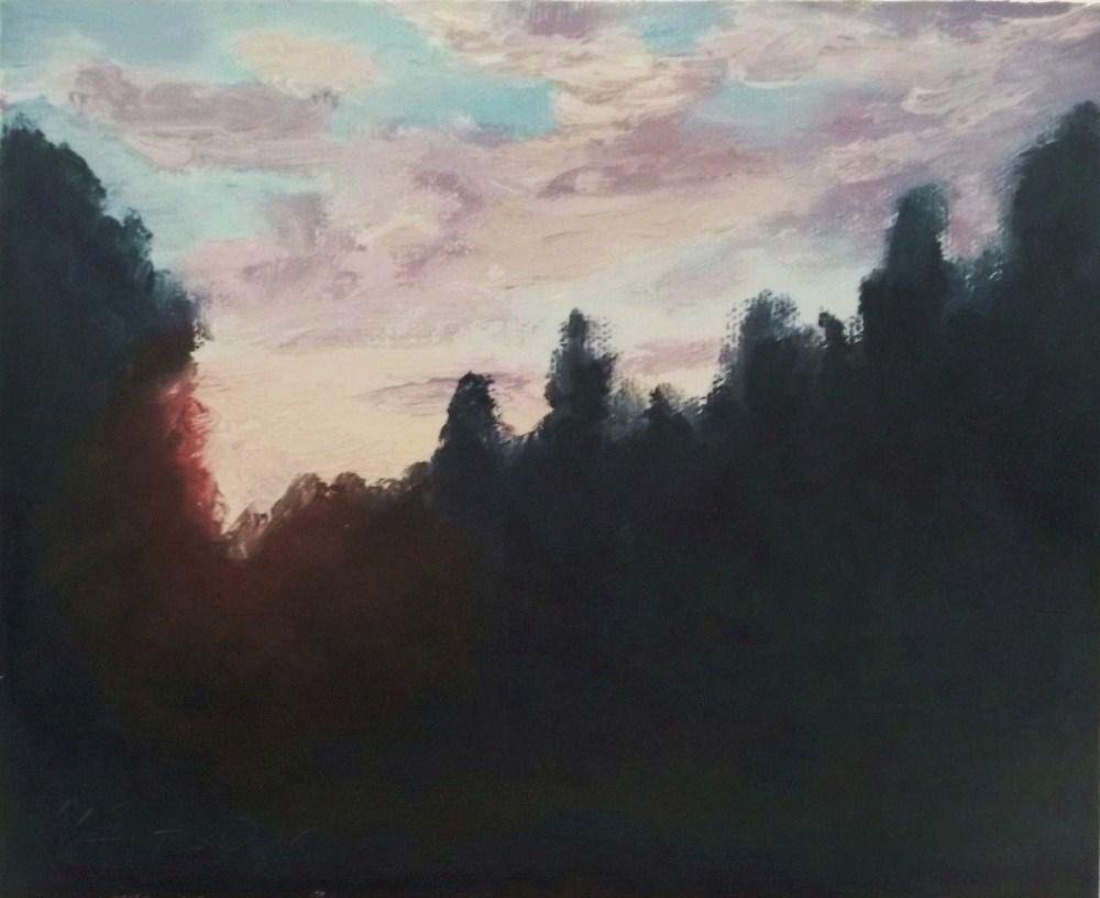 """Backlit forest scene"" original fine art by Michael Sason"