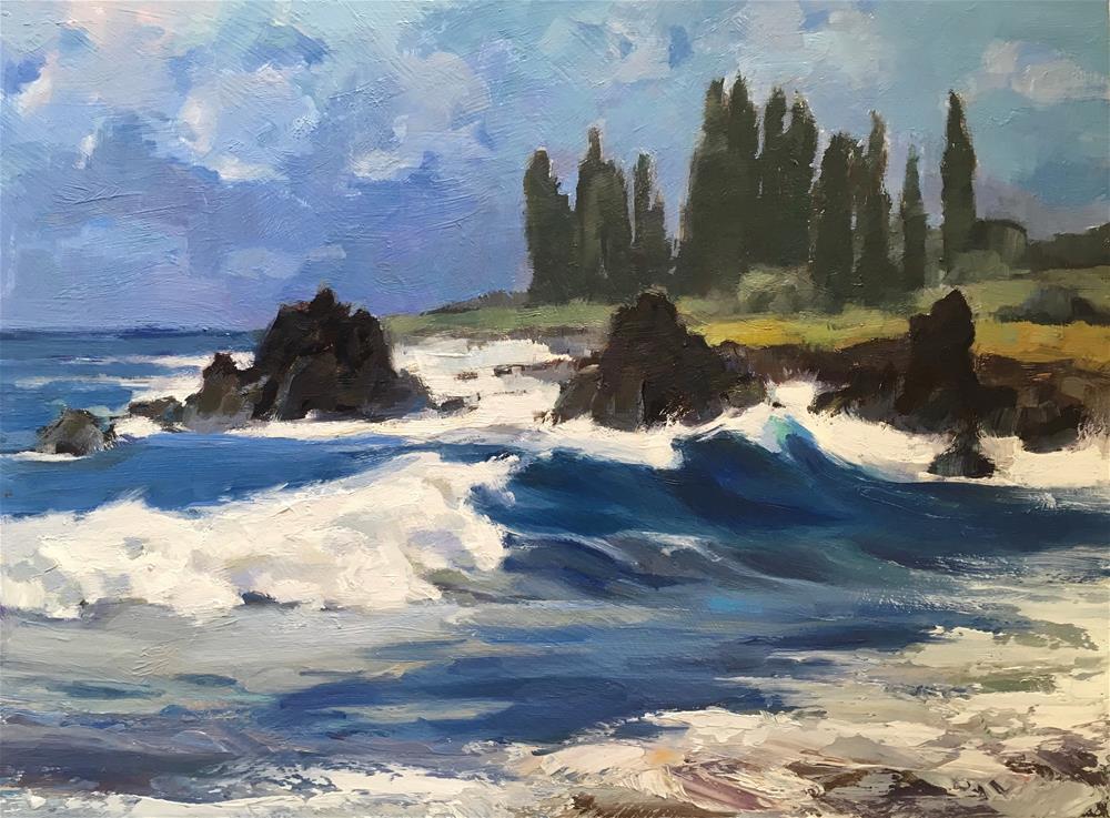 """""""Hamoa Beach, Hana"""" original fine art by Katya Minkina"""