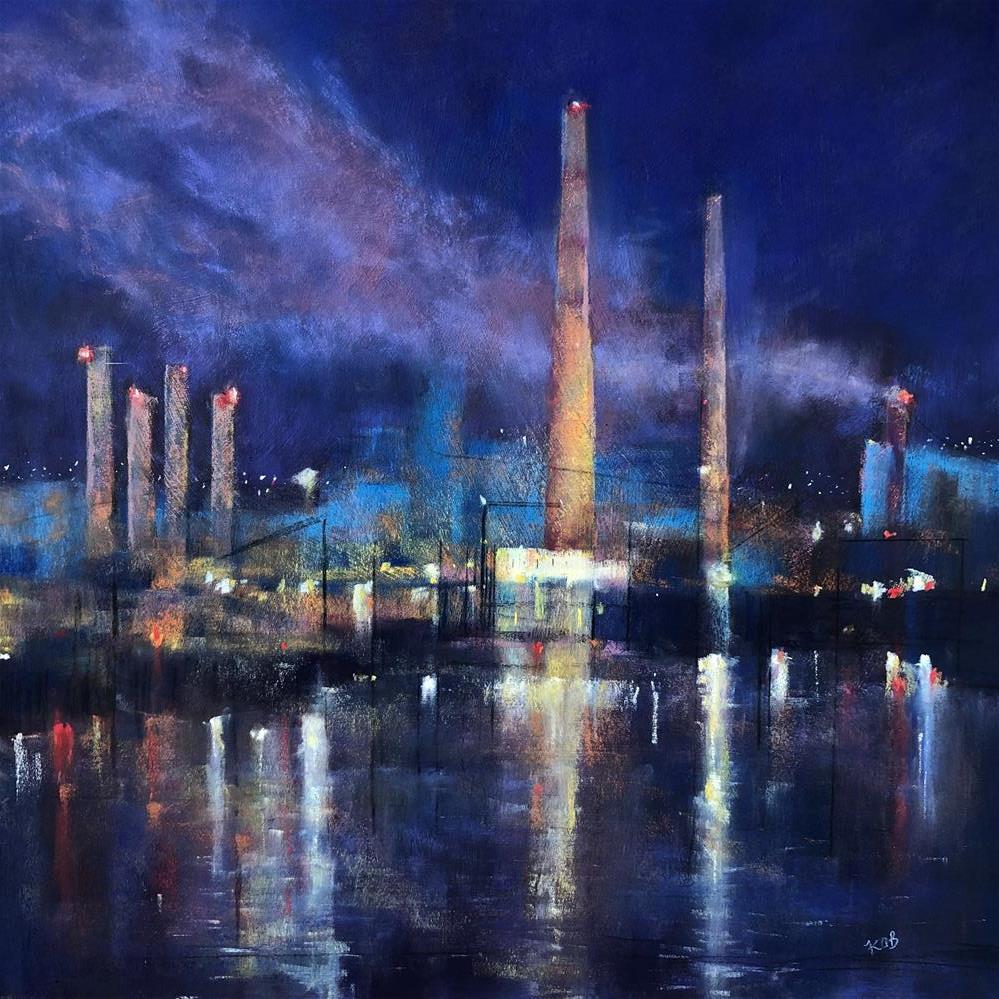 """""""The Port Never Sleeps."""" original fine art by Karen O'Brien"""