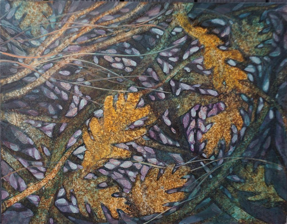 """Fallen Leaves"" original fine art by Larisa Nikonova"