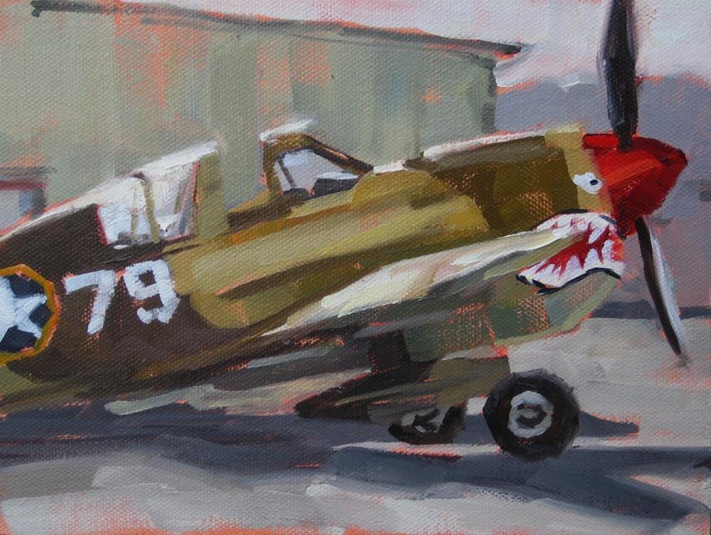 """""""War Bird"""" original fine art by Karen Werner"""