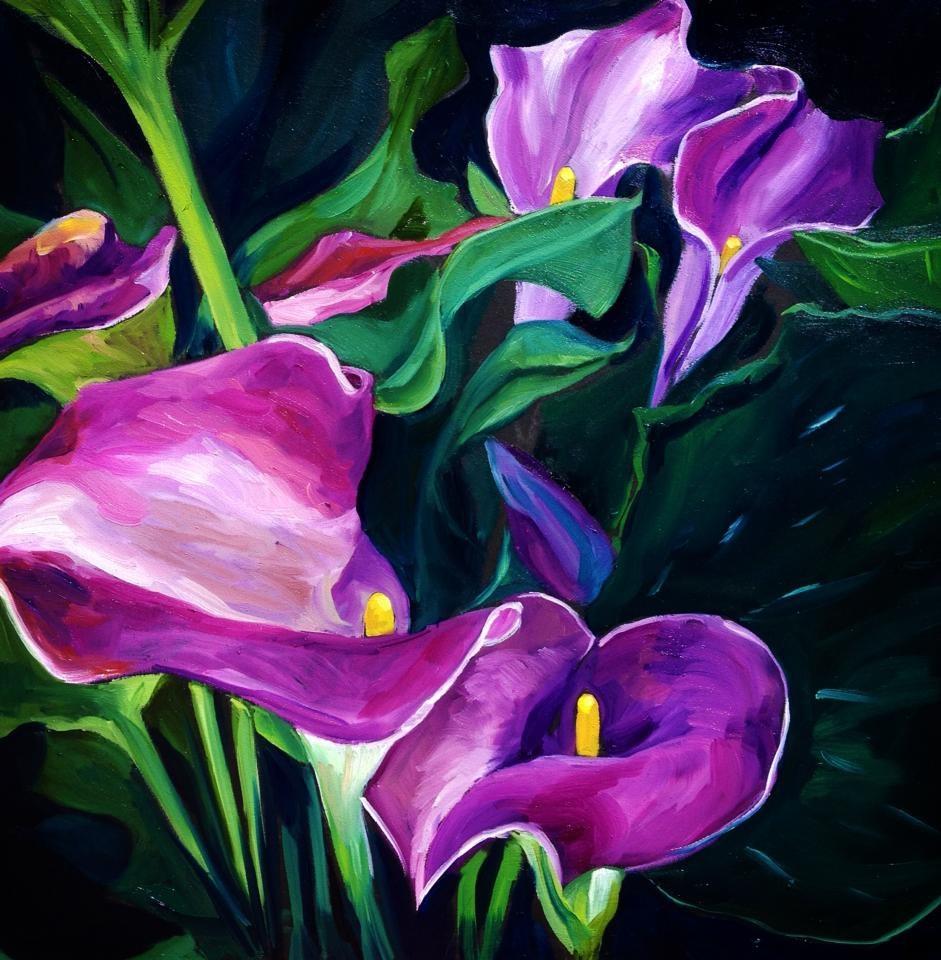 """""""Purple Haze"""" original fine art by Lauren Kuhn"""