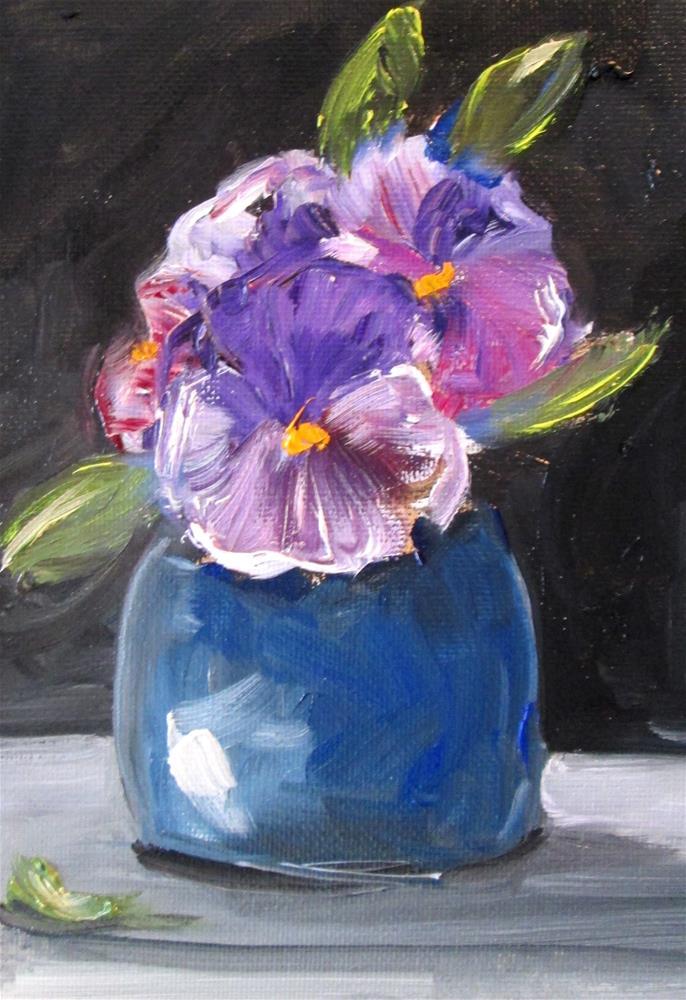 """""""Violet"""" original fine art by Delilah Smith"""