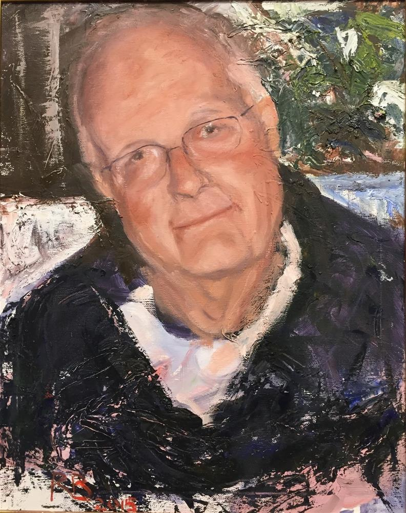 """Toni's Dad"" original fine art by Rick Blankenship"