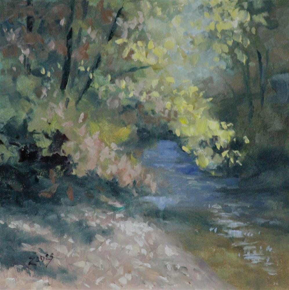 """Fall Creek"" original fine art by Linda Eades Blackburn"
