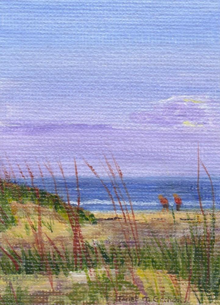 """Early Morning Walk"" original fine art by Janet Graham"