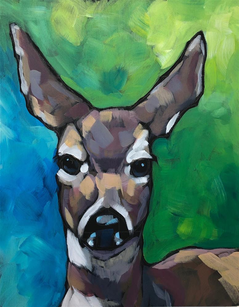 """Deer Prudence"" original fine art by Kat Corrigan"