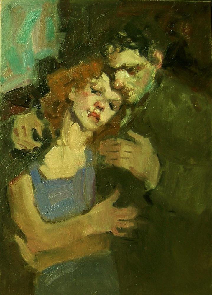 """Someone to lean on"" original fine art by Kim Roberti"