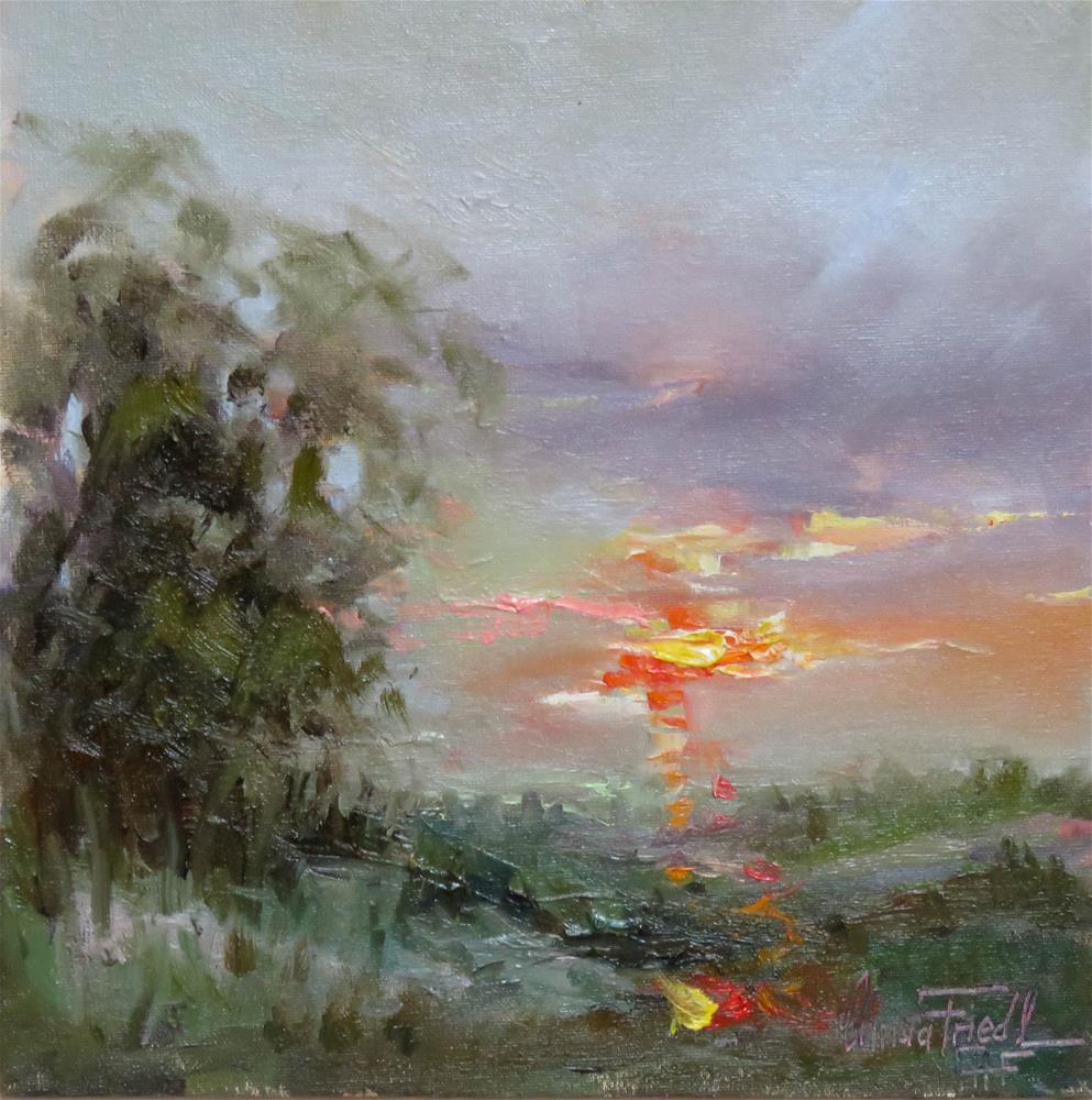 """Colorful Sunset"" original fine art by Christa Friedl"