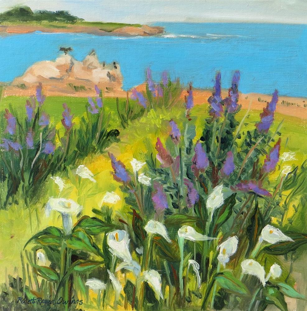 """Calla Lilies Along the Coast"" original fine art by Rhett Regina Owings"