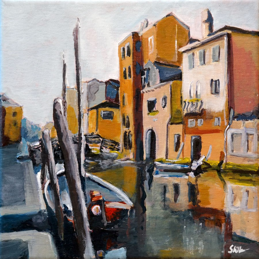 """1386 Near the Ghetto in the Morning"" original fine art by Dietmar Stiller"