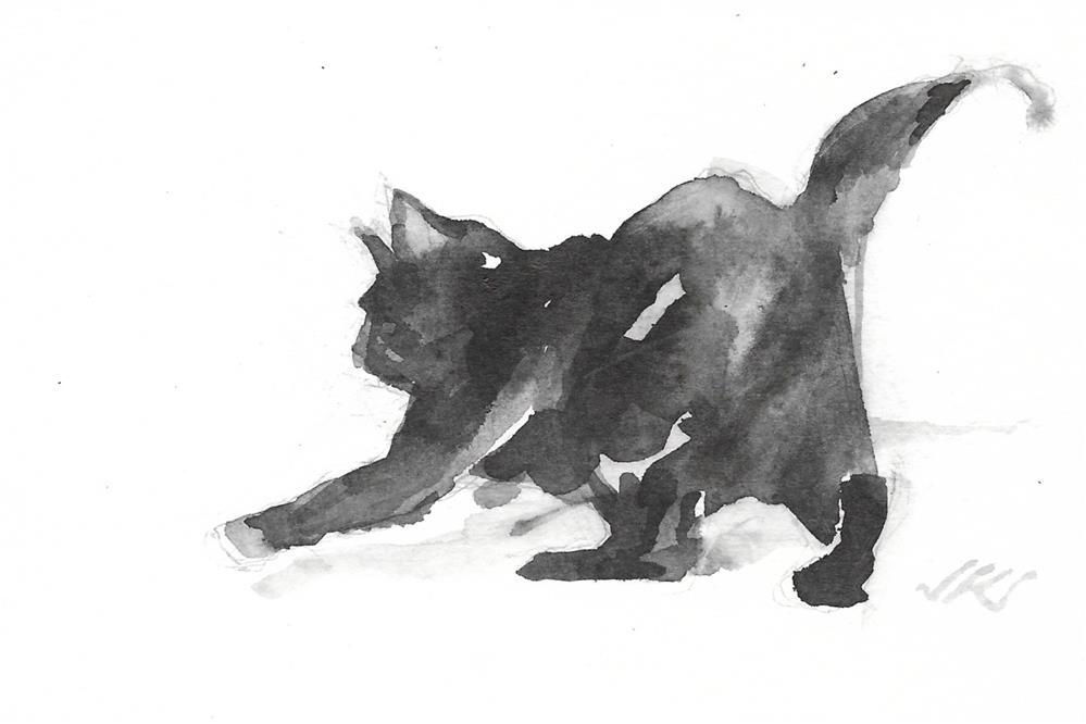 """Dialy Cat 208"" original fine art by Jean Krueger"