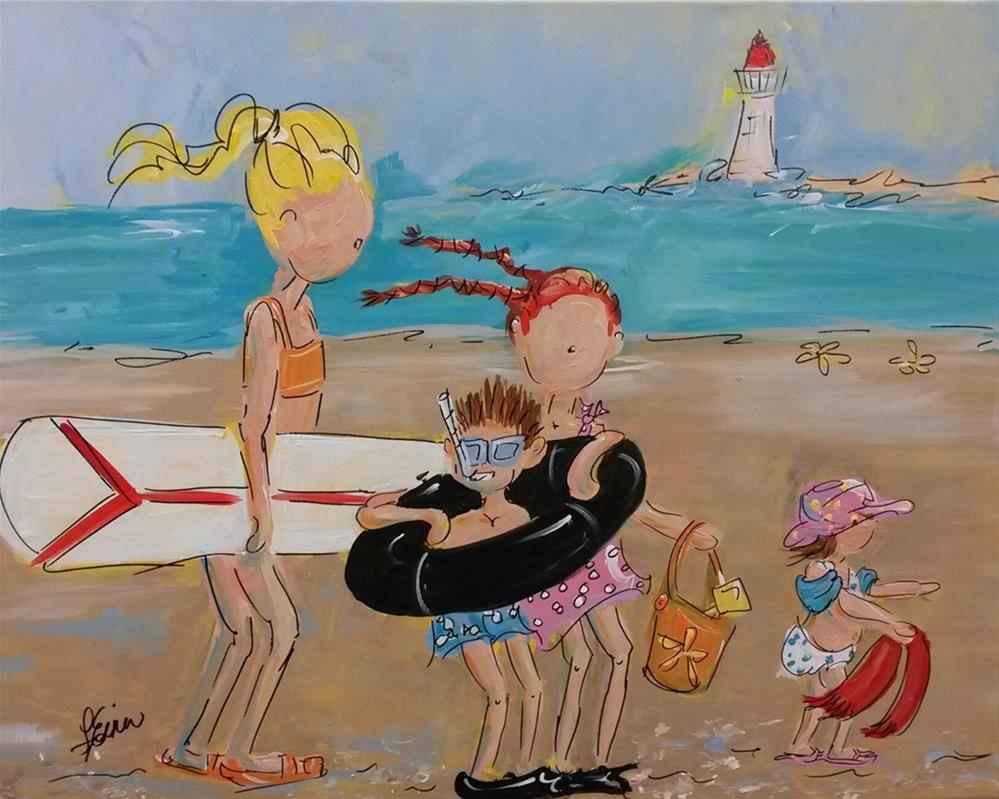 """""""To the Beach"""" original fine art by Terri Einer"""