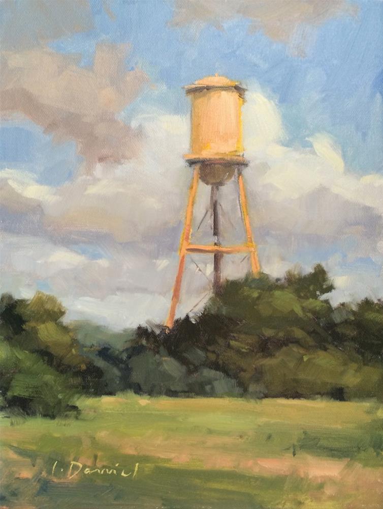 """Old Water Tank"" original fine art by Laurel Daniel"