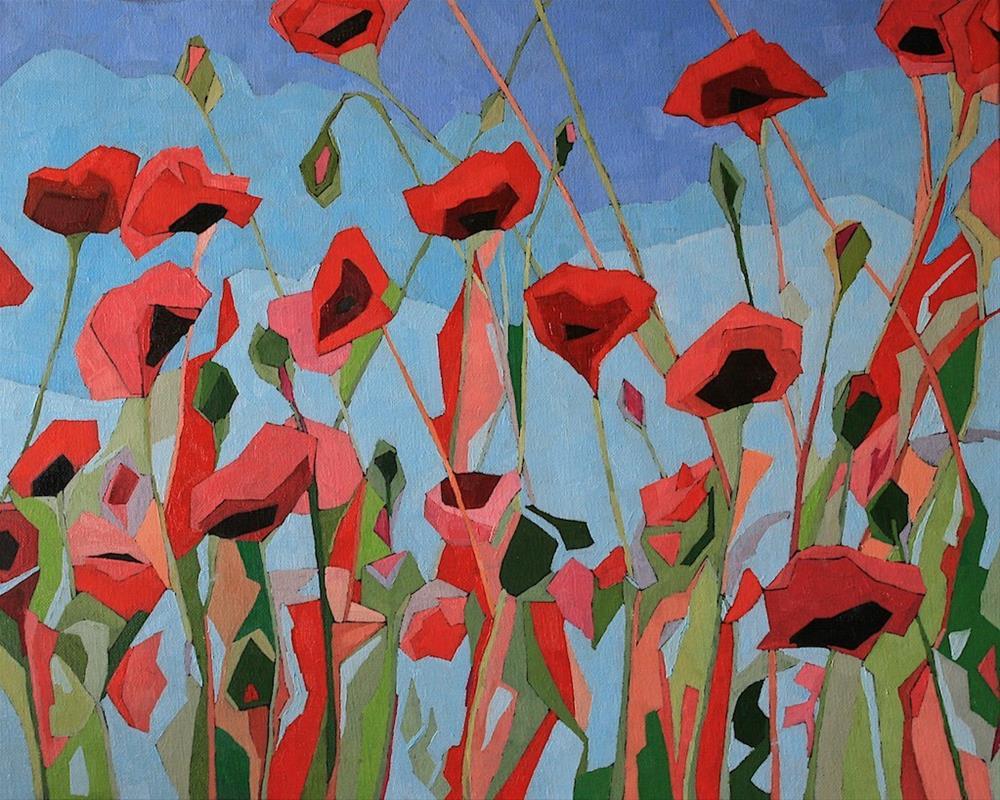 """""""Poppy Riot"""" original fine art by Mary Anne Cary"""