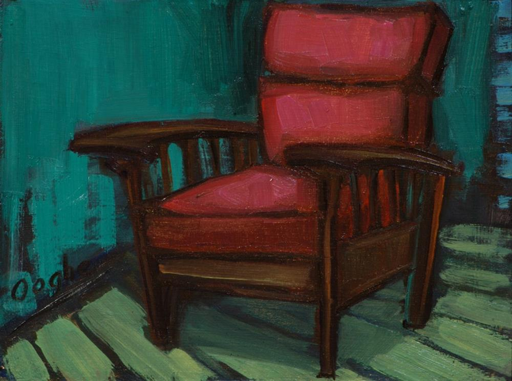 """""""Leather Chair"""" original fine art by Angela Ooghe"""